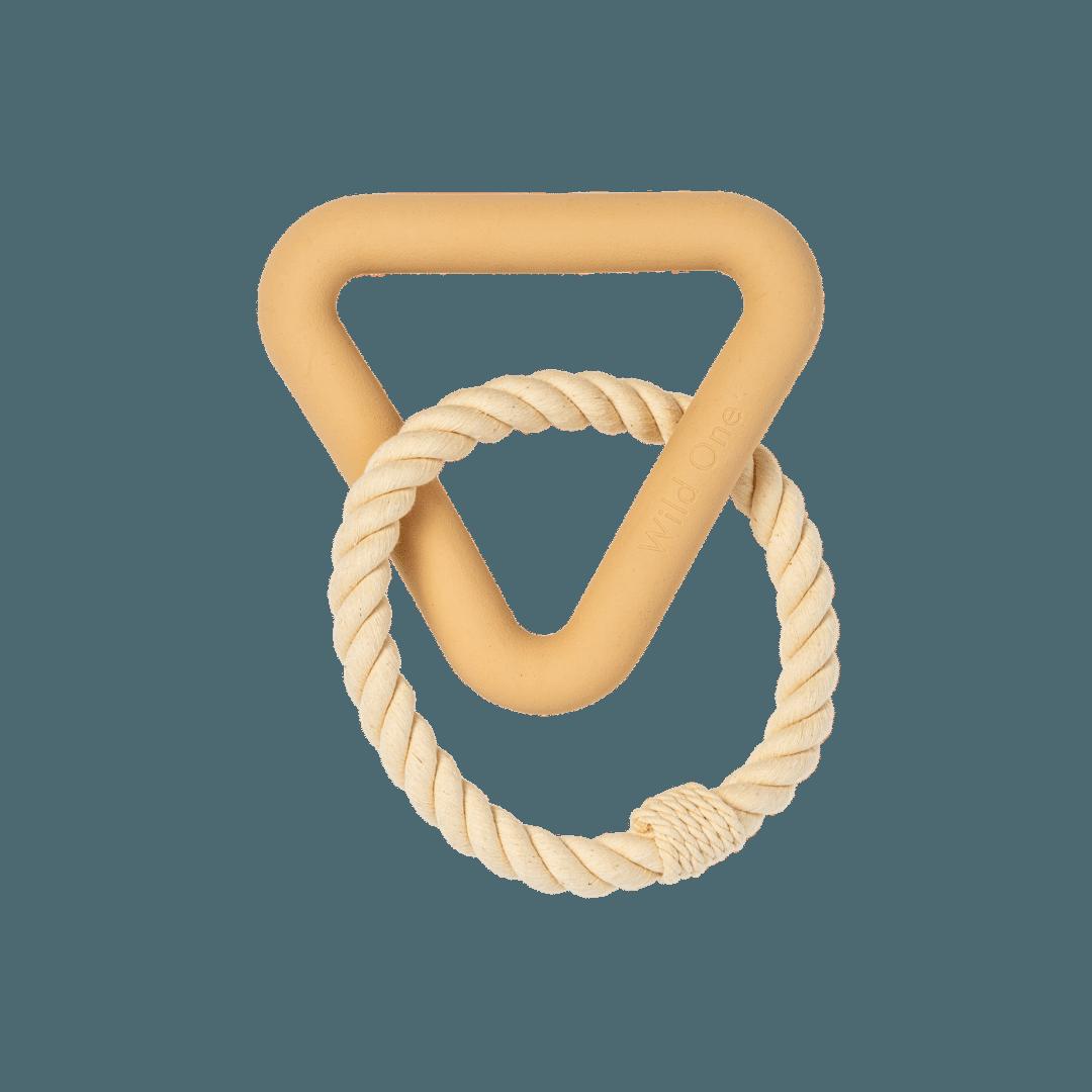 Wild One Triangle Tug Toy - Tan