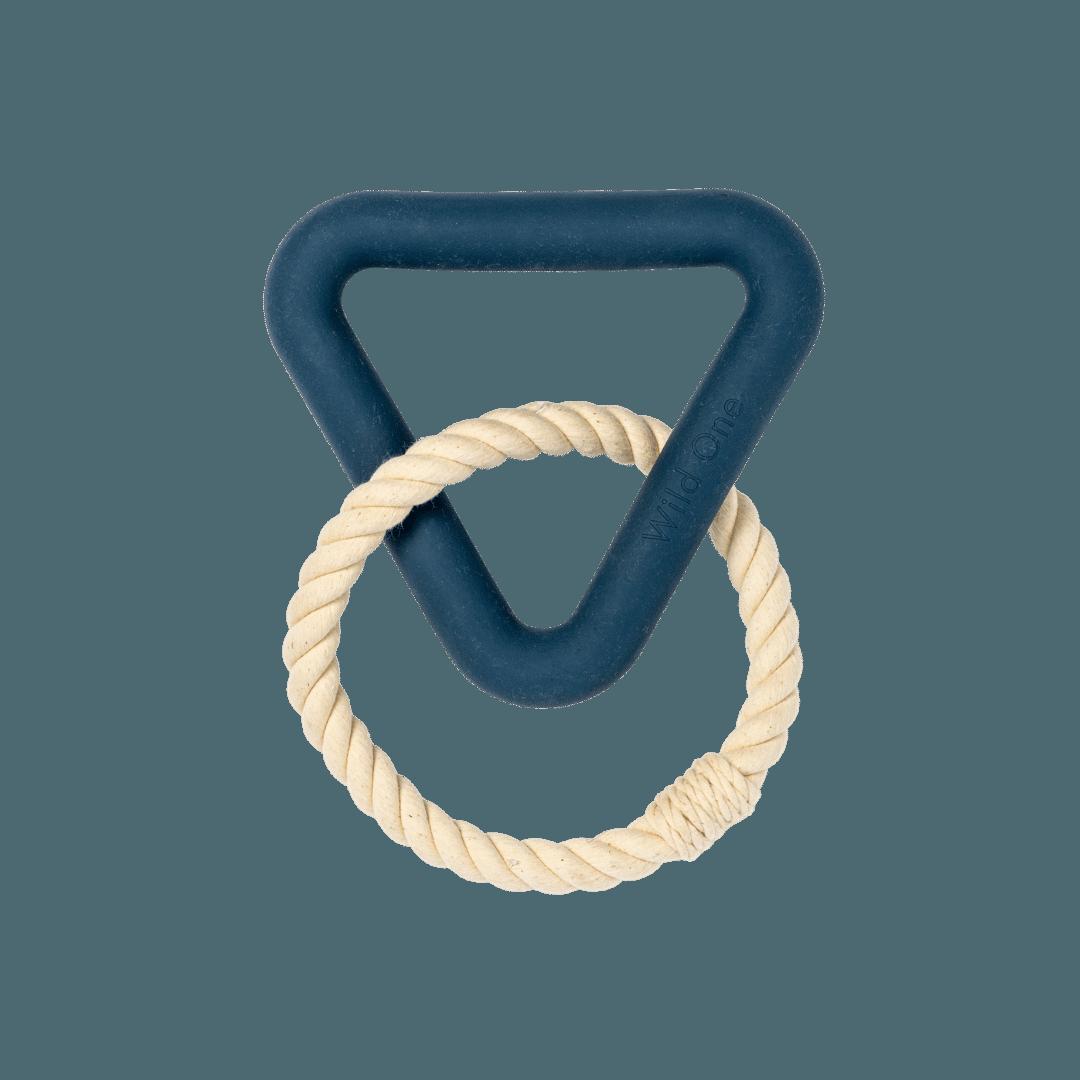 Wild One Triangle Tug Toy - Blue