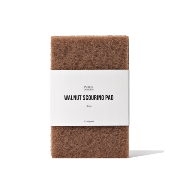 Public Goods Walnut Scrubber Sponge - 4 pcs