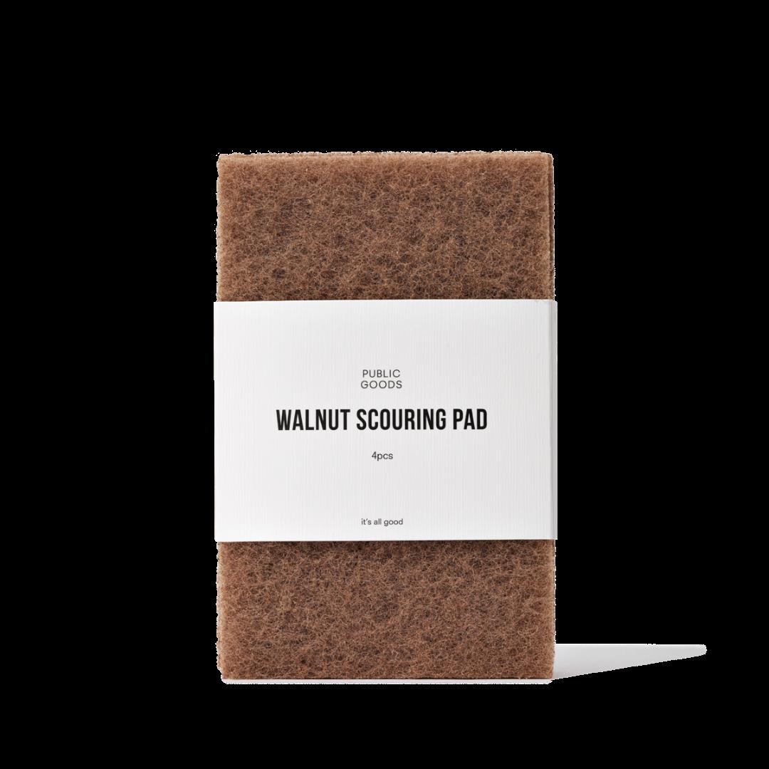 Public Goods \Walnut Scrubber Sponge - 4 pcs