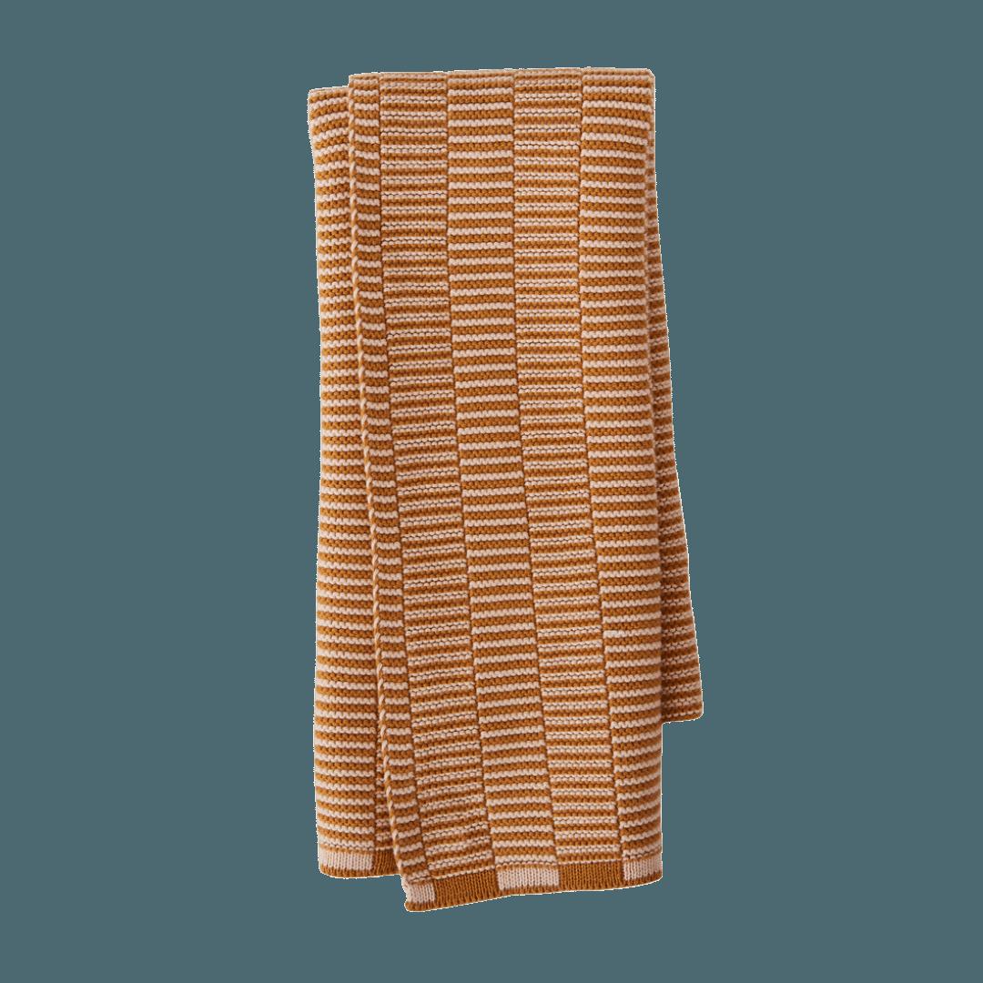 OYOY Living Design Stringa Organic Cotton Hand Towel - Caramel/Rose