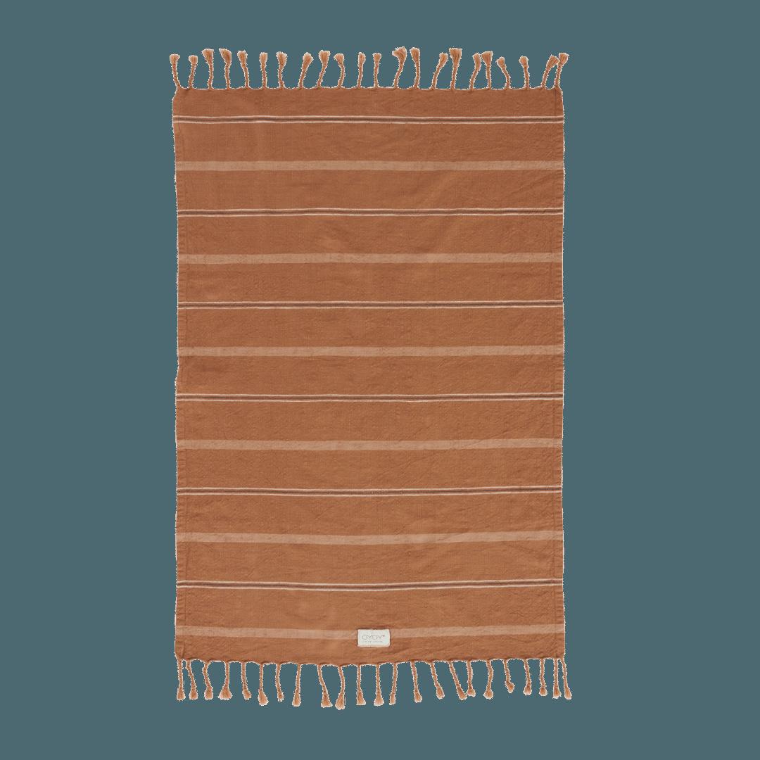 OYOY Living Design Kyoto Organic Cotton Guest Towel - Dark Caramel