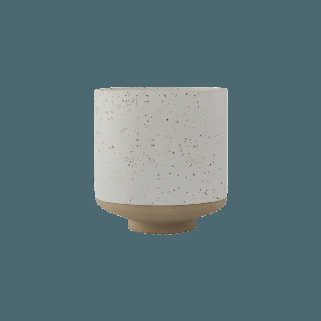 OYOY Living Design Hagi Pot - White/Light Brown
