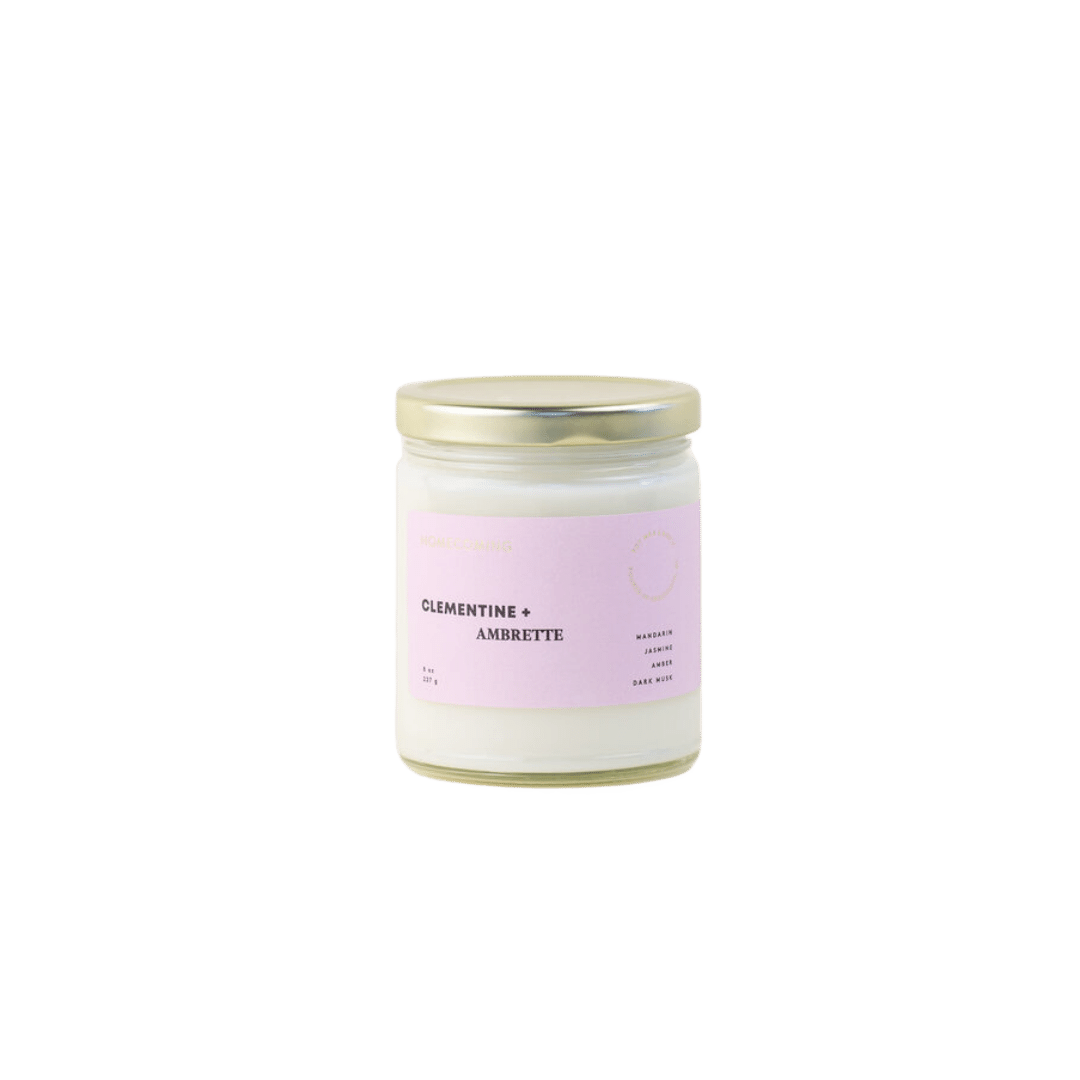 Homecoming Clementine + Ambrette Soy Candle
