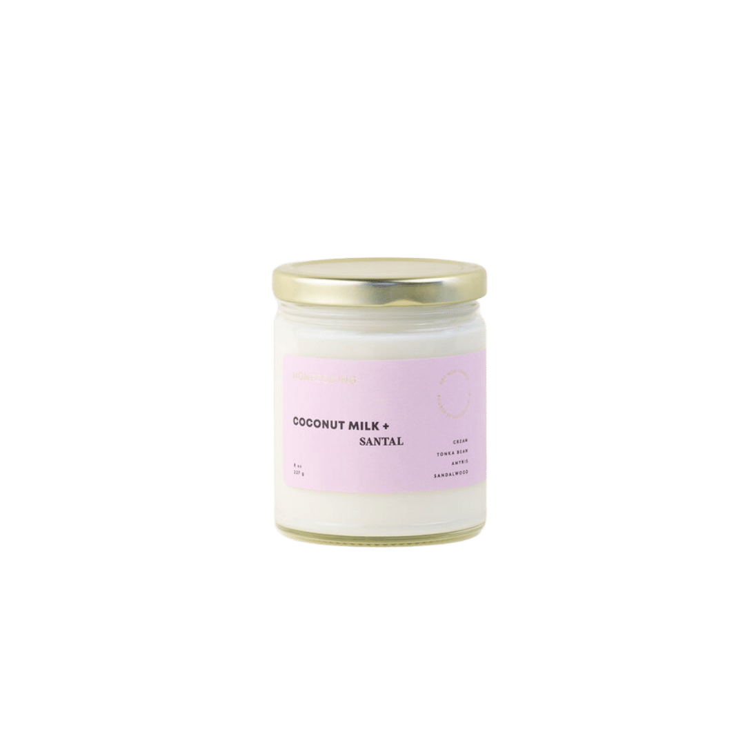 Homecoming Coconut + Santal Soy Candle