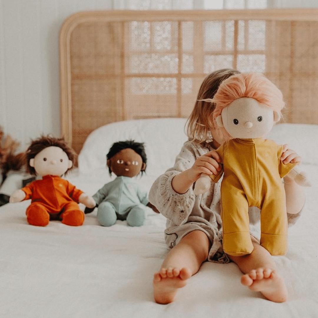Olli Ella Dinkum Doll PJs - Honey
