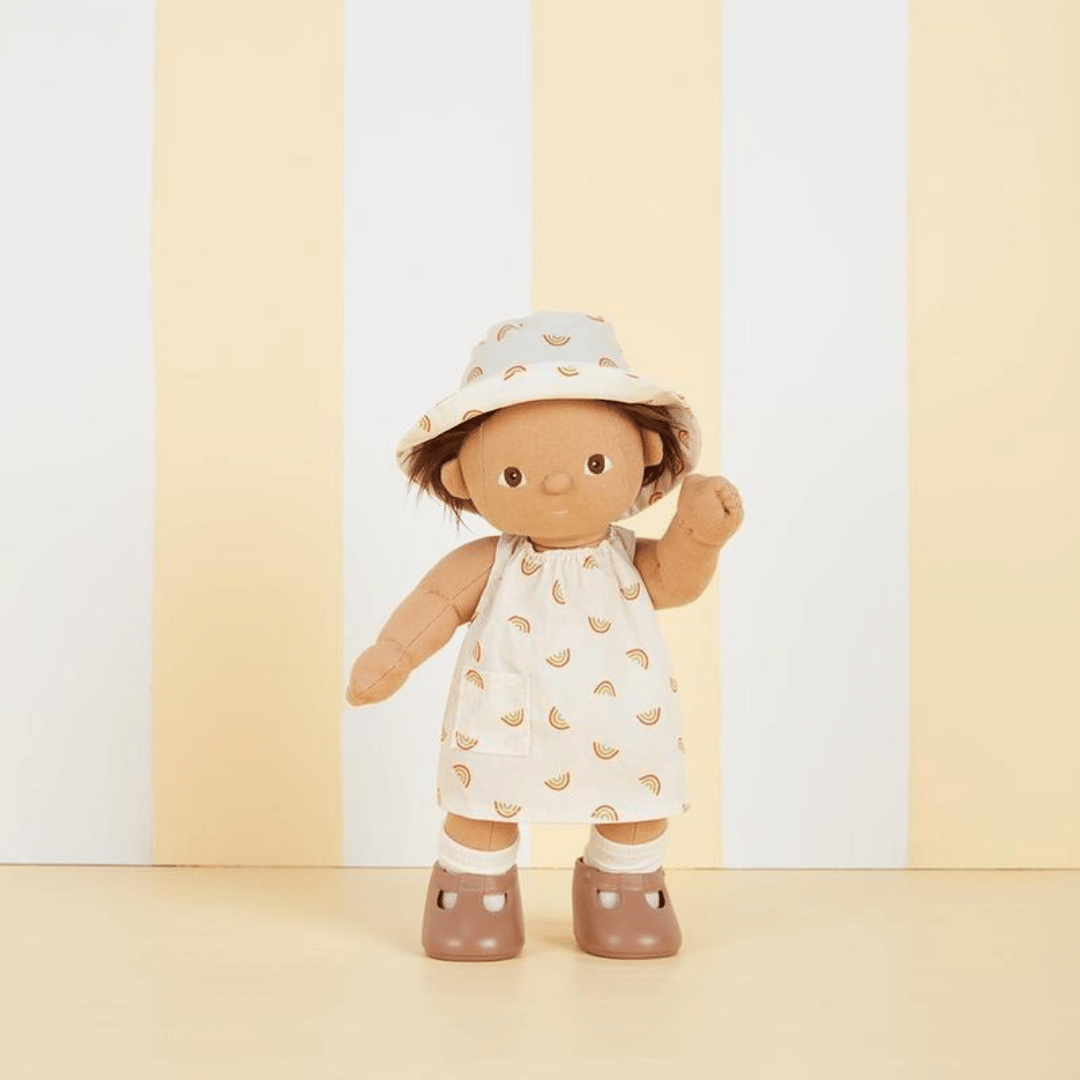 Olli Ella Dinkum Doll Una Rainbow Dress Set - Ivory