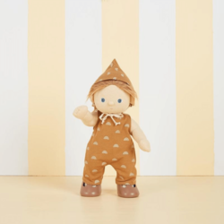 Olli Ella Dinkum Doll Rolo Romper Set - Fawn