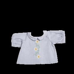 Olli Ella Dinkum Doll Cotton Daisy Dress - Cornflower Blue