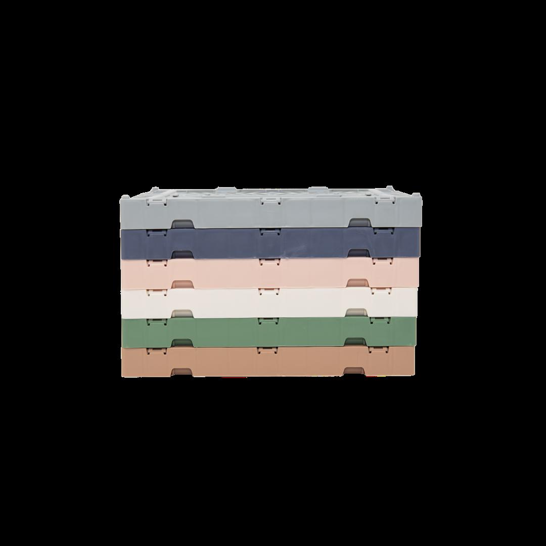 Aykasa Mini Folding Crate - Milk Tea (Pink)