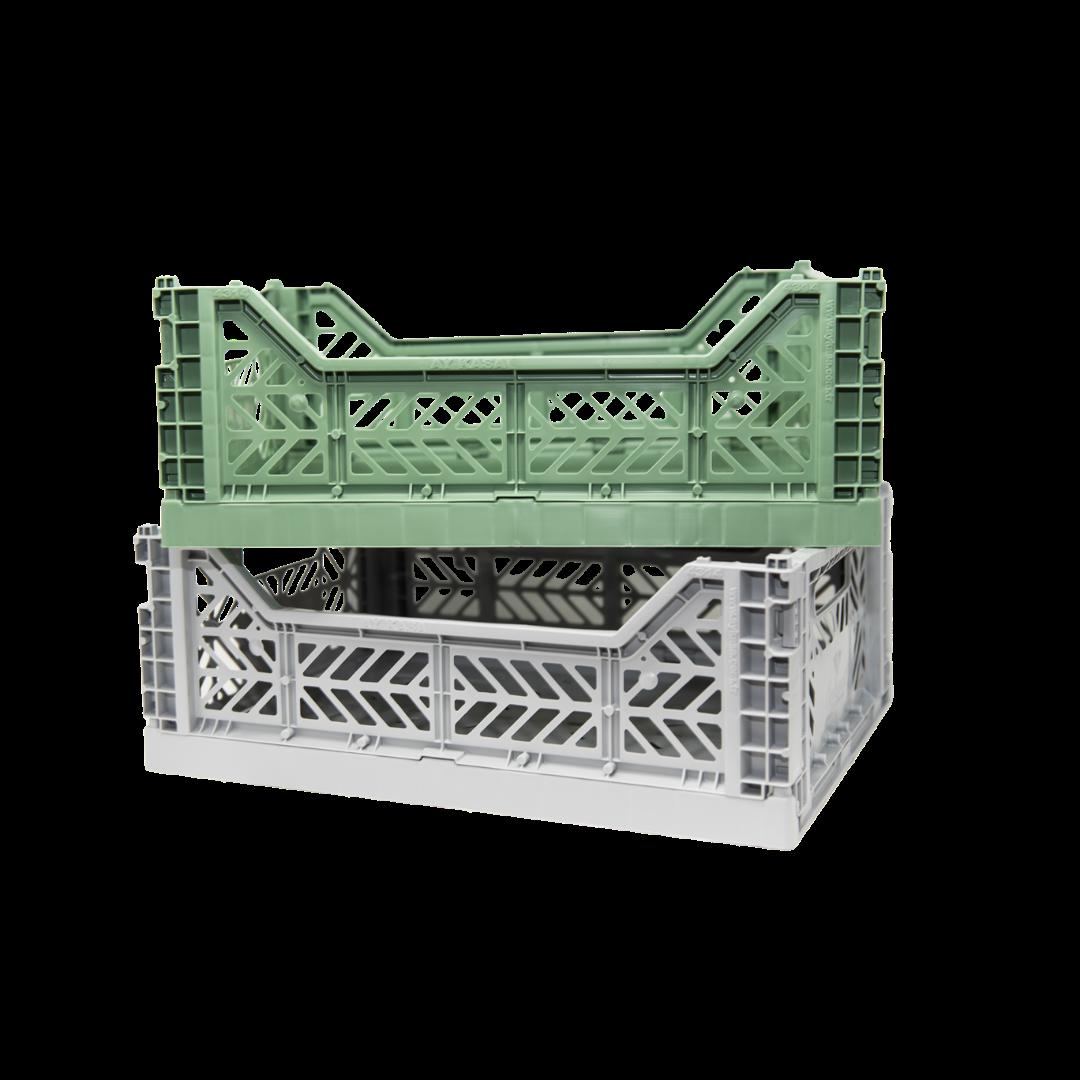 Aykasa Midi Folding Crate - Grey
