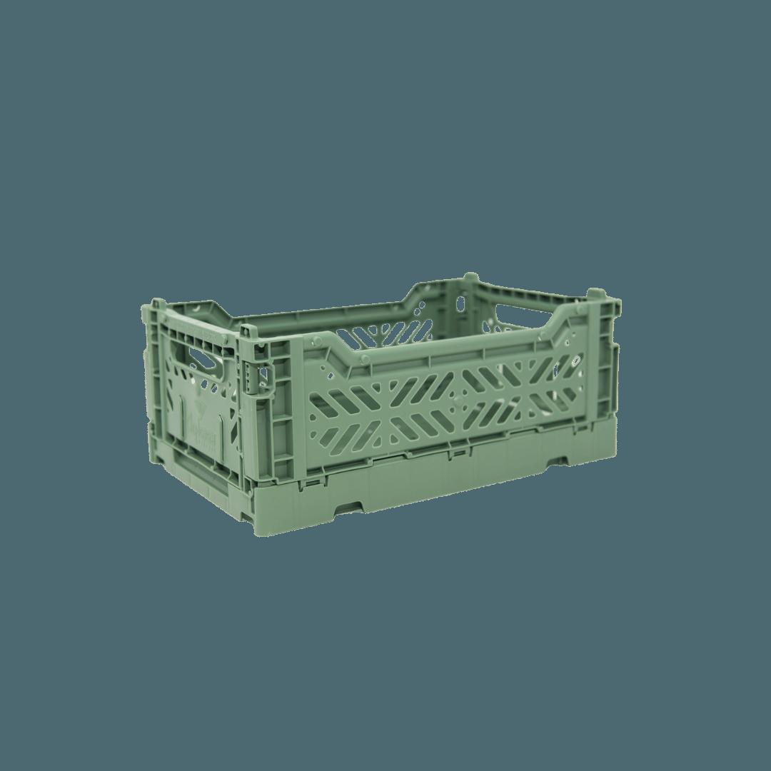 Aykasa Mini Folding Crate - Almond Green