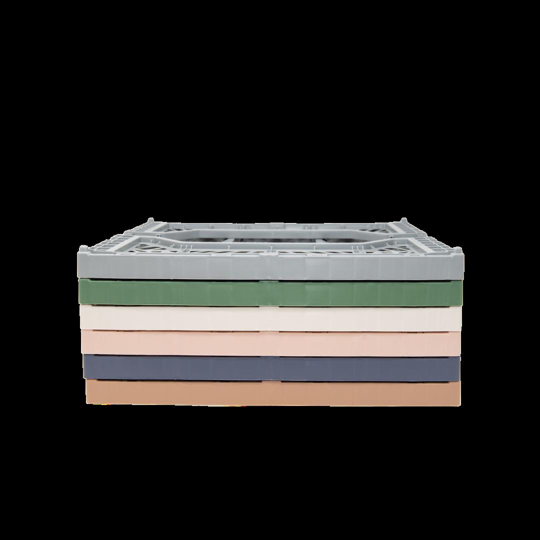 Aykasa Midi Folding Crate - Almond Green