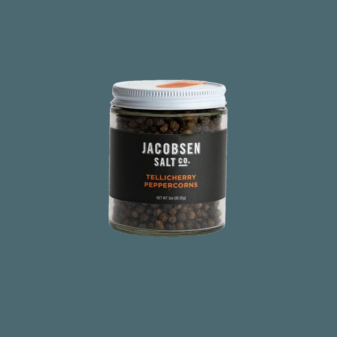 Jacobsen Salt Co. Tellicherry Peppercorn Sourced Salt
