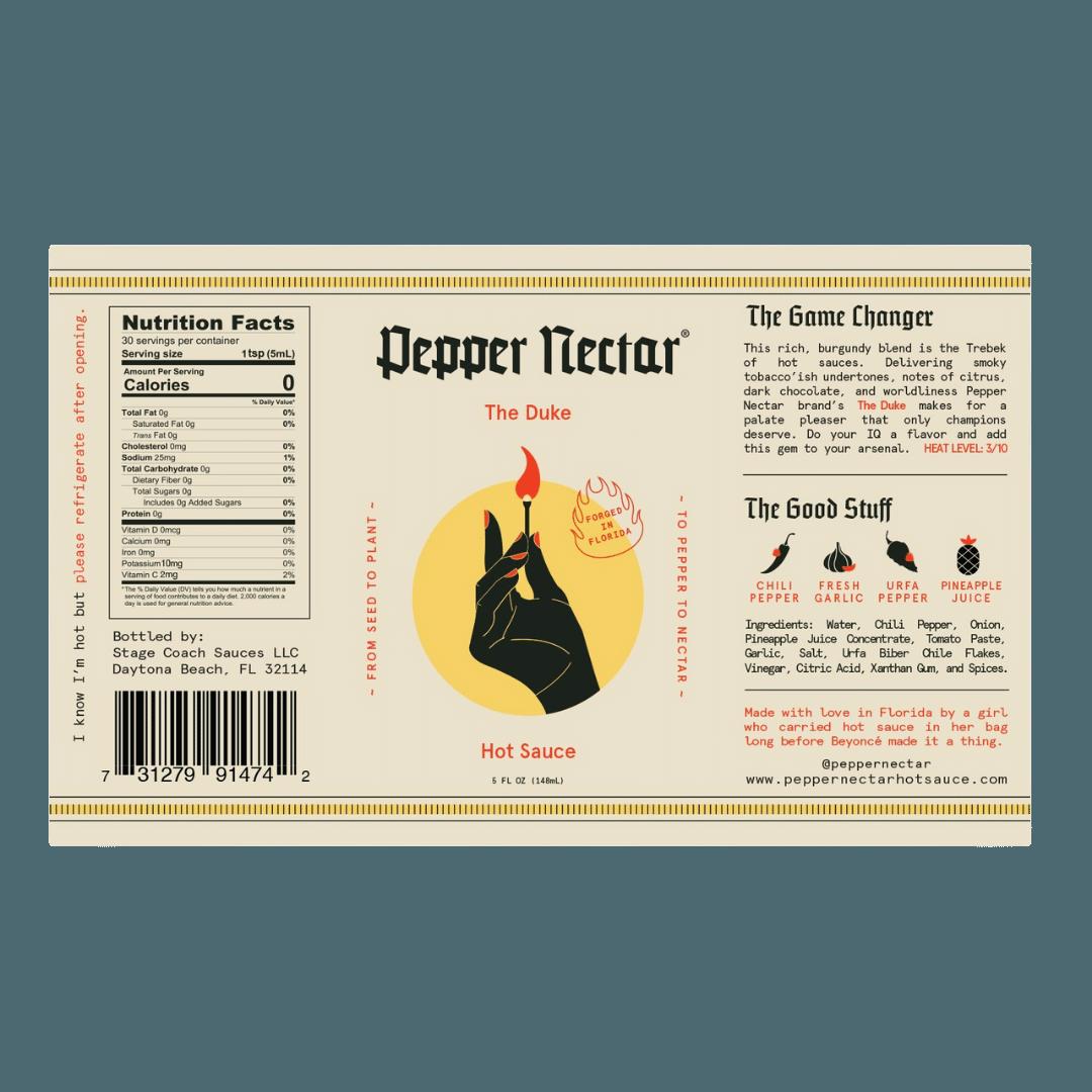 Pepper Nectar The Duke Hot Sauce - 148mL