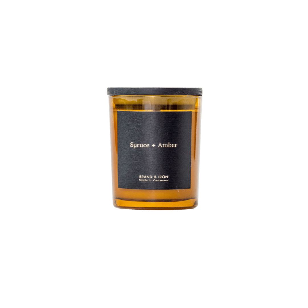 Brand + Iron Amber Series Soy Candle - Spruce + Amber 8oz