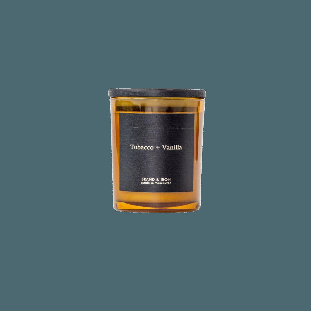 Brand + Iron Amber Soy Candle Tobacco + Vanilla 8oz