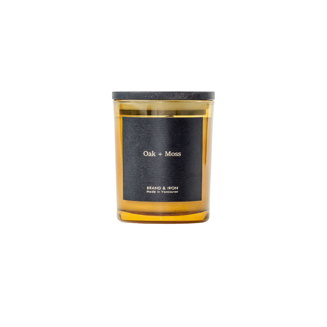 Brand + Iron Amber Soy Candle Oak + Moss 8oz