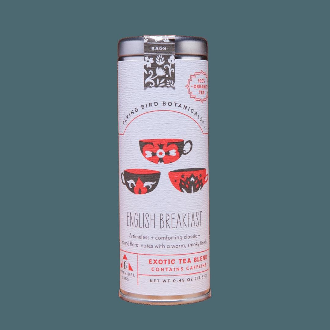 Flying Bird Botanicals English Breakfast Organic Tea Tin - 15 bags