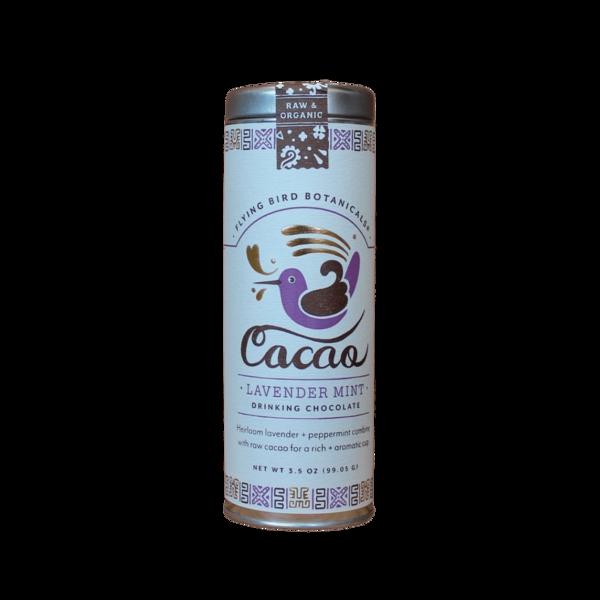 Flying Bird Botanicals Lavender Mint Organic Drinking Chocolate Large Tin