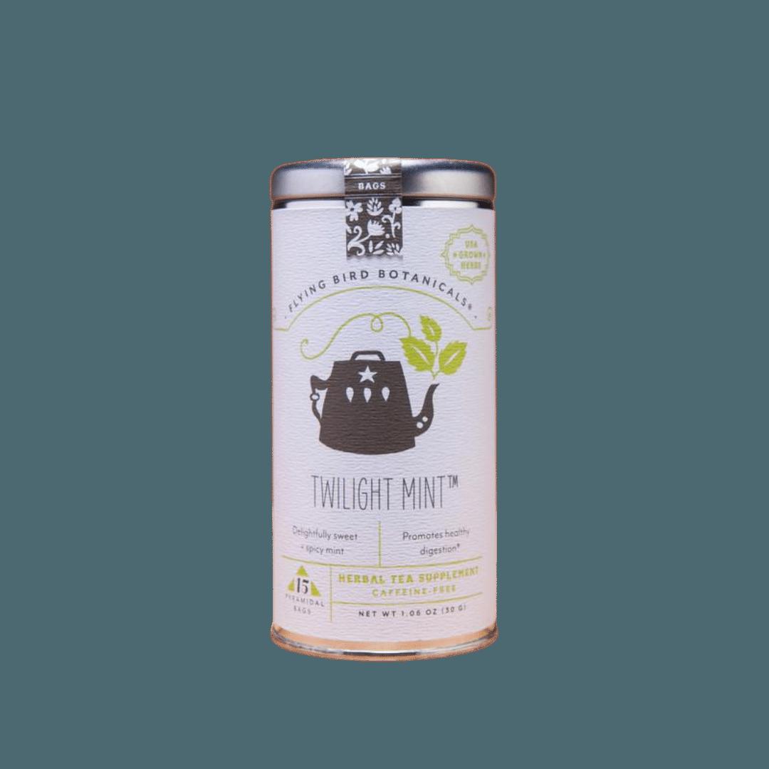 Flying Bird Botanicals Twilight Mint Organic Tea Tin - 15 bags