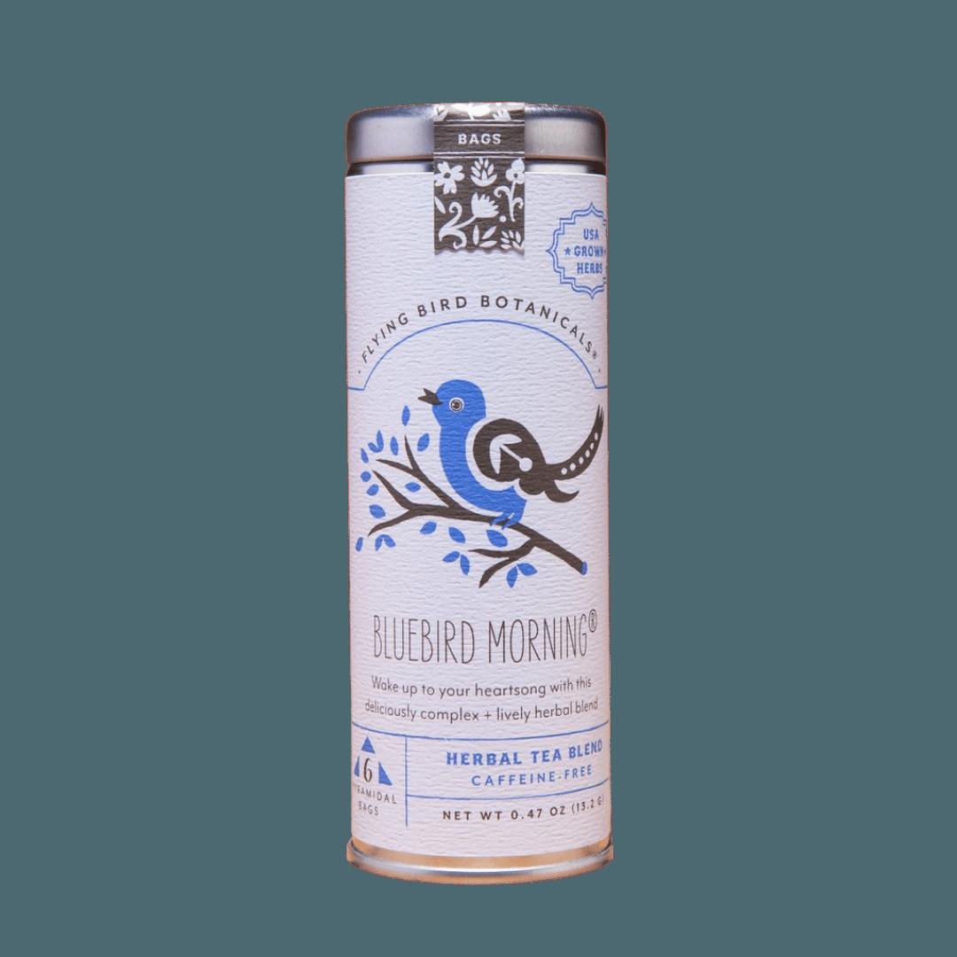 Flying Bird Botanicals Bluebird Morning Organic Tea Tin - 15 bags