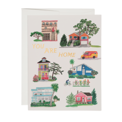 Red Cap You Are Home Greeting Card