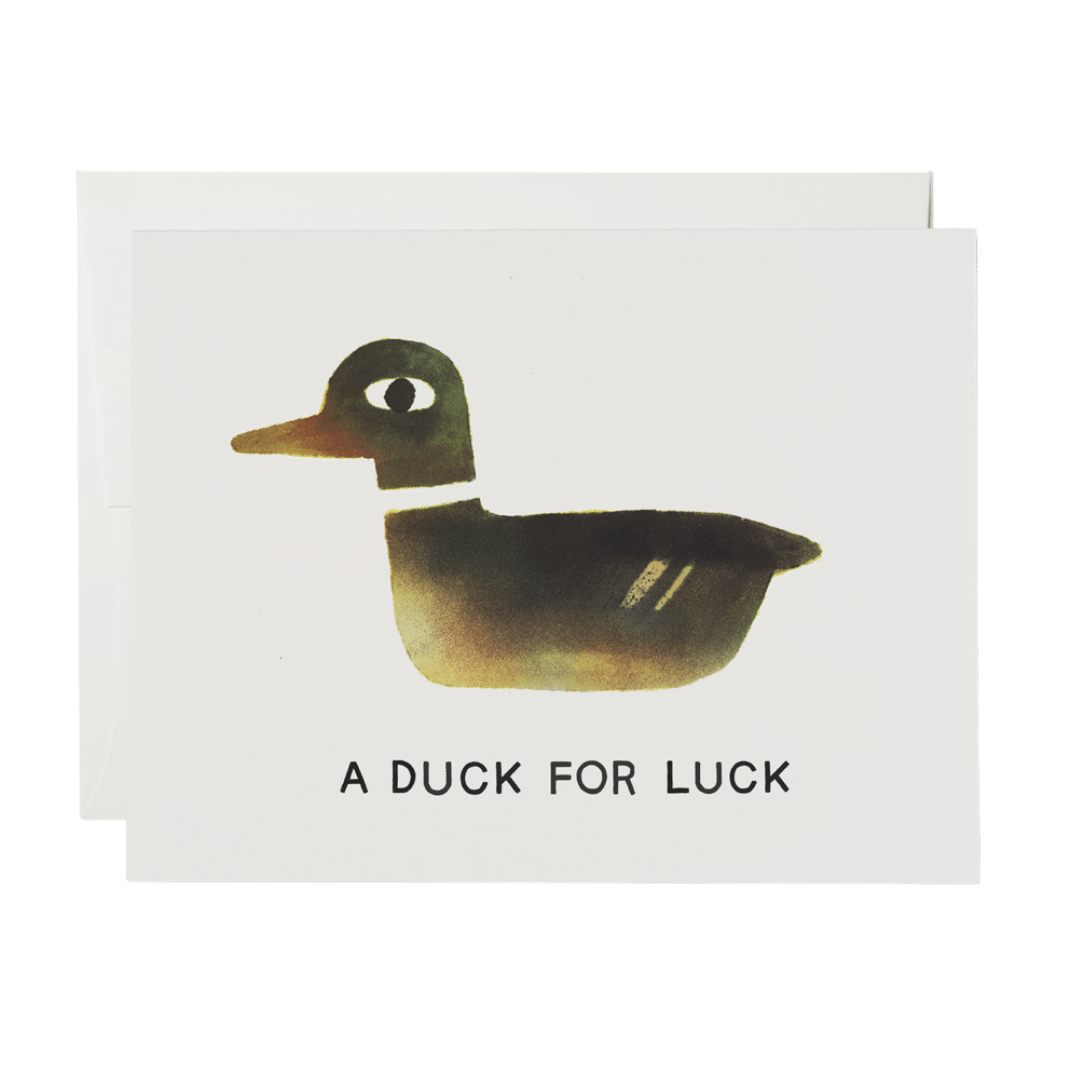 Red Cap A Duck Greeting Card