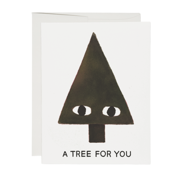 Red Cap A Tree Greeting Card