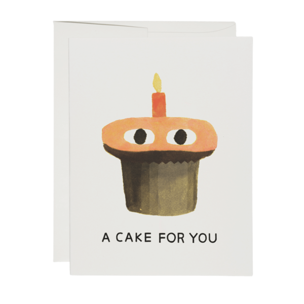 Red Cap A Cake Greeting Card