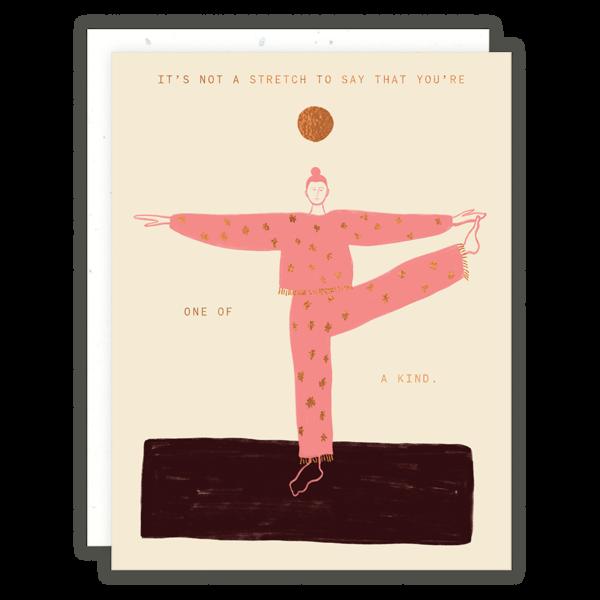Someday Studio Yoga Lady Greeting Card