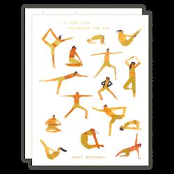 Someday Studio Yoga Poses Greeting Card