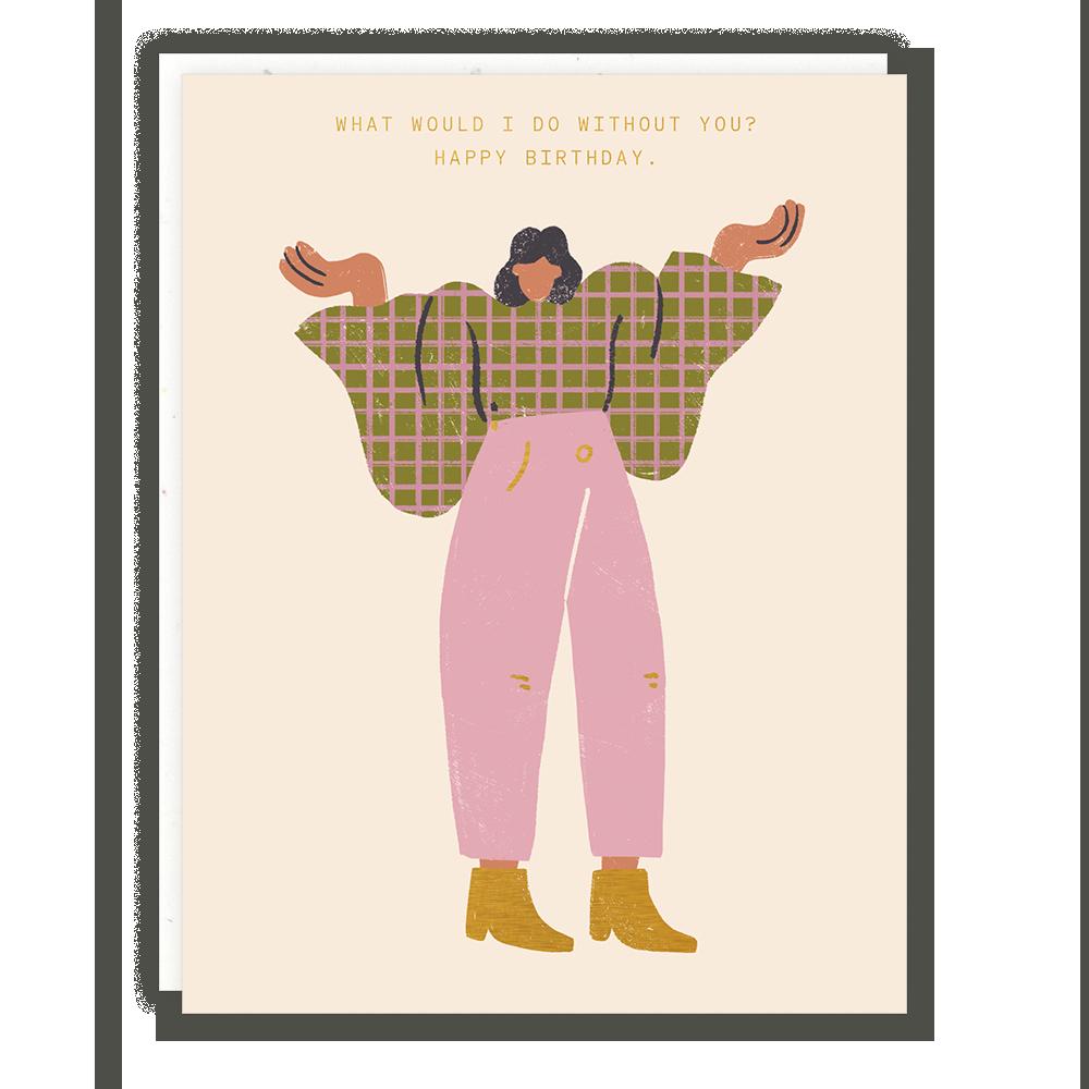 Someday Studio Shrug Lady Greeting Card