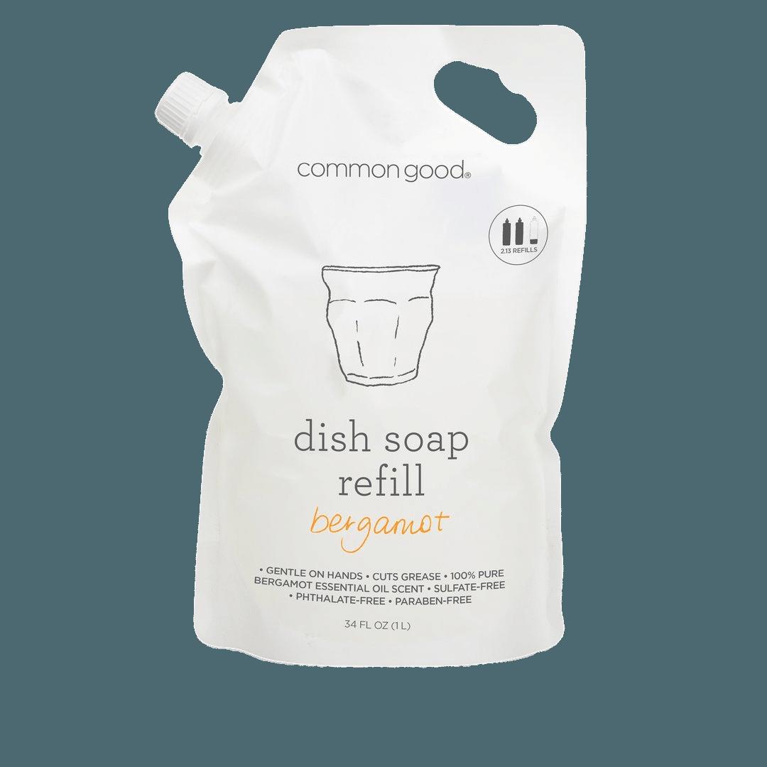 Common Good Bergamot Dish Soap Refill Pouch - 34oz