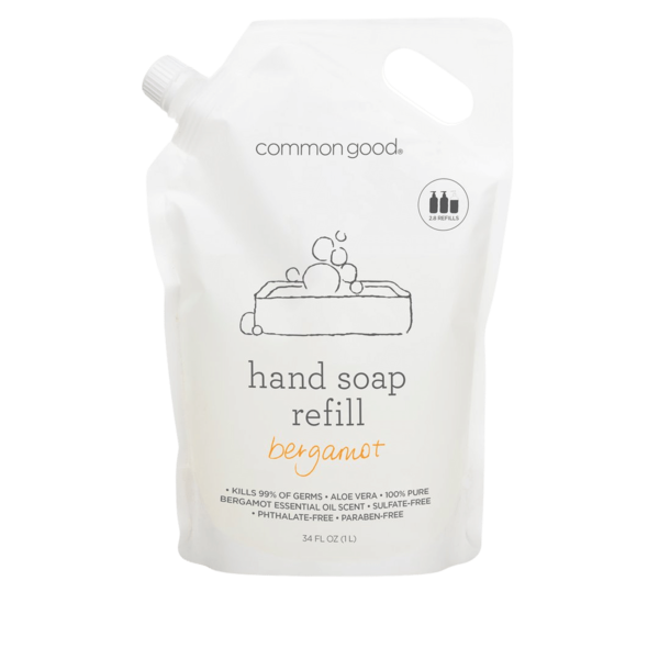 Common Good Bergamot Hand Soap Refill Pouch - 34oz