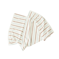 OYOY Living Design Raita Organic Cotton Towel Caramel/Ice Blue - Medium