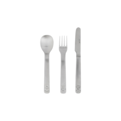 OYOY Living Design We Love Animals Cutlery Set - Brushed Steel