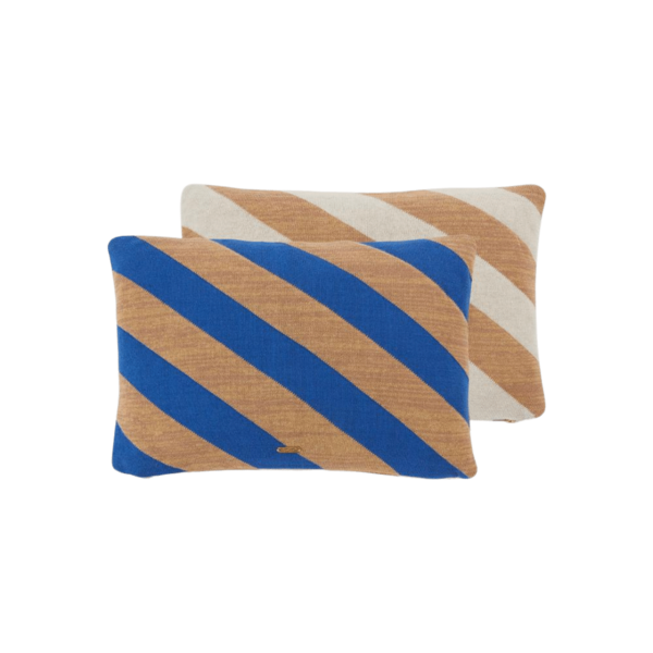 OYOY Living Design Takara Cushion - Optic Blue/Camel