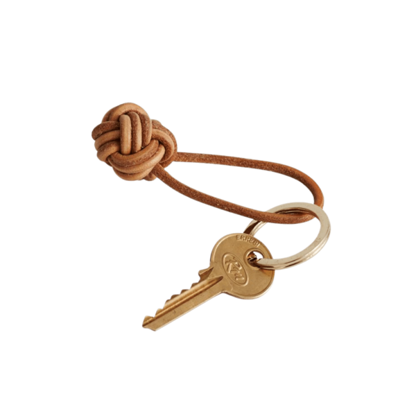 OYOY Living Design Knotted Leather Key Ring