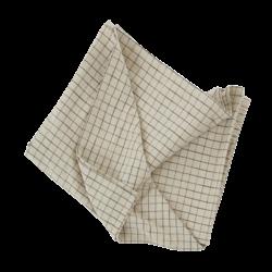 OYOY Living Design Grid Tablecloth - Clay/Black