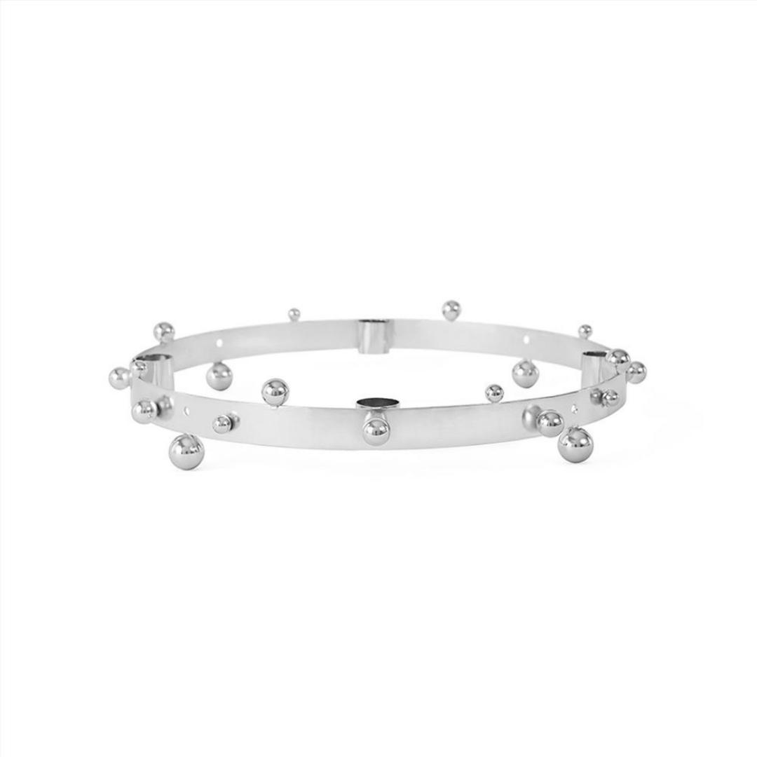 OYOY Living Design Pearl Advent Candelabra - Silver