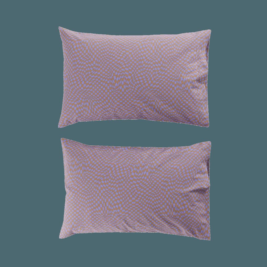 Baggu Organic Cotton Pillow Case - Set of 2 Trippy Checker Mix