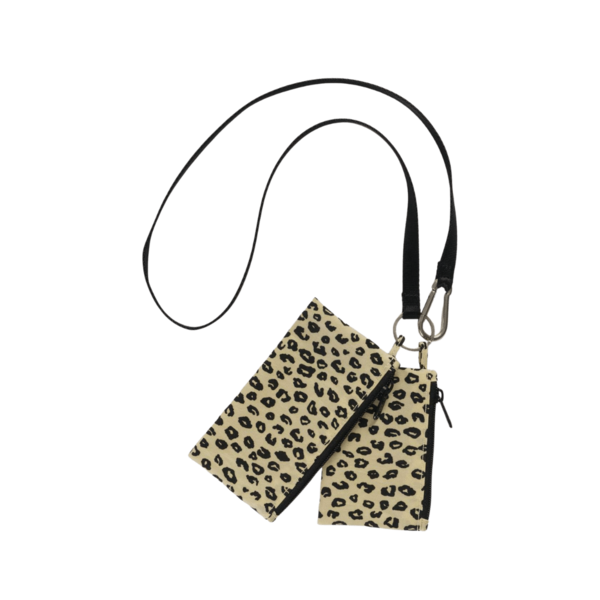 Baggu Lanyard Pouch Set - Honey Leopard