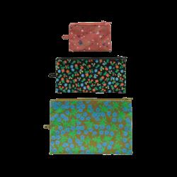 Baggu Flat Pouch Set - Calico Florals