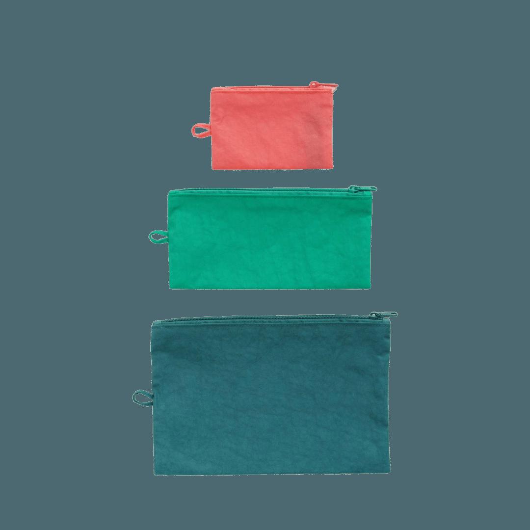 Baggu Flat Pouch Set - Watermelon Slice