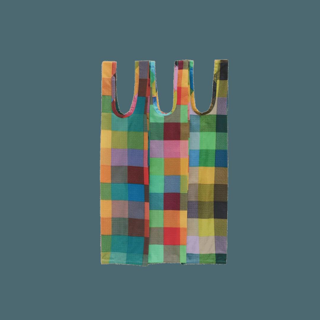 Baggu Wine Bags - Madras Mix (S/3)