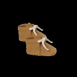 Quincy Mae Baby Booties - Walnut