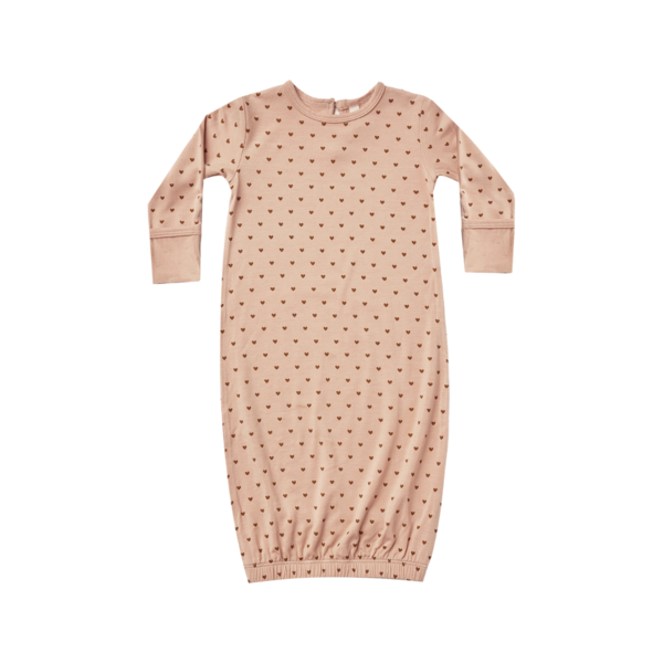 Quincy Mae Bamboo Baby Gown - Petal