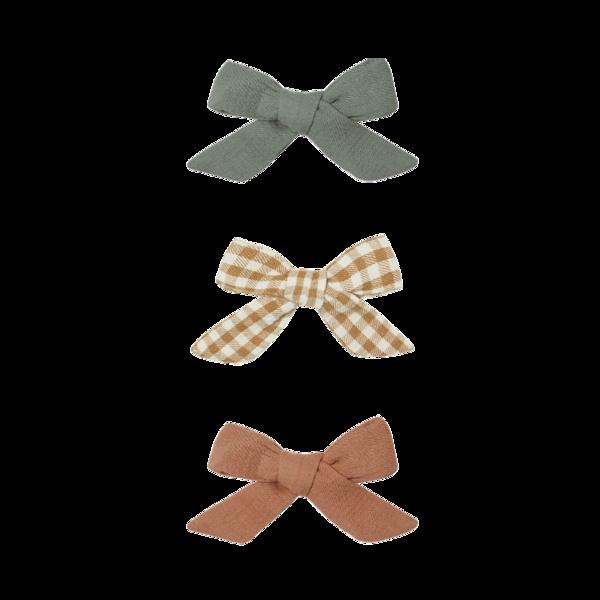 Quincy Mae Schoolgirl Bow - Basil/Honey/Clay