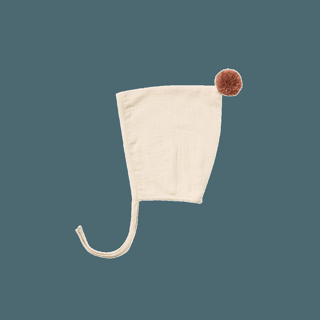 Quincy Mae Pom Pom Pixie Bonnet - Natural